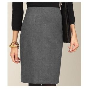 Talbots Heathered Gray Pencil Skirt